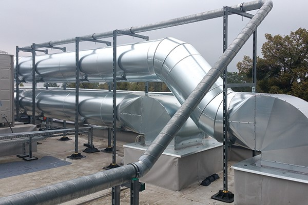 Duct Supports For Rooftop Installations