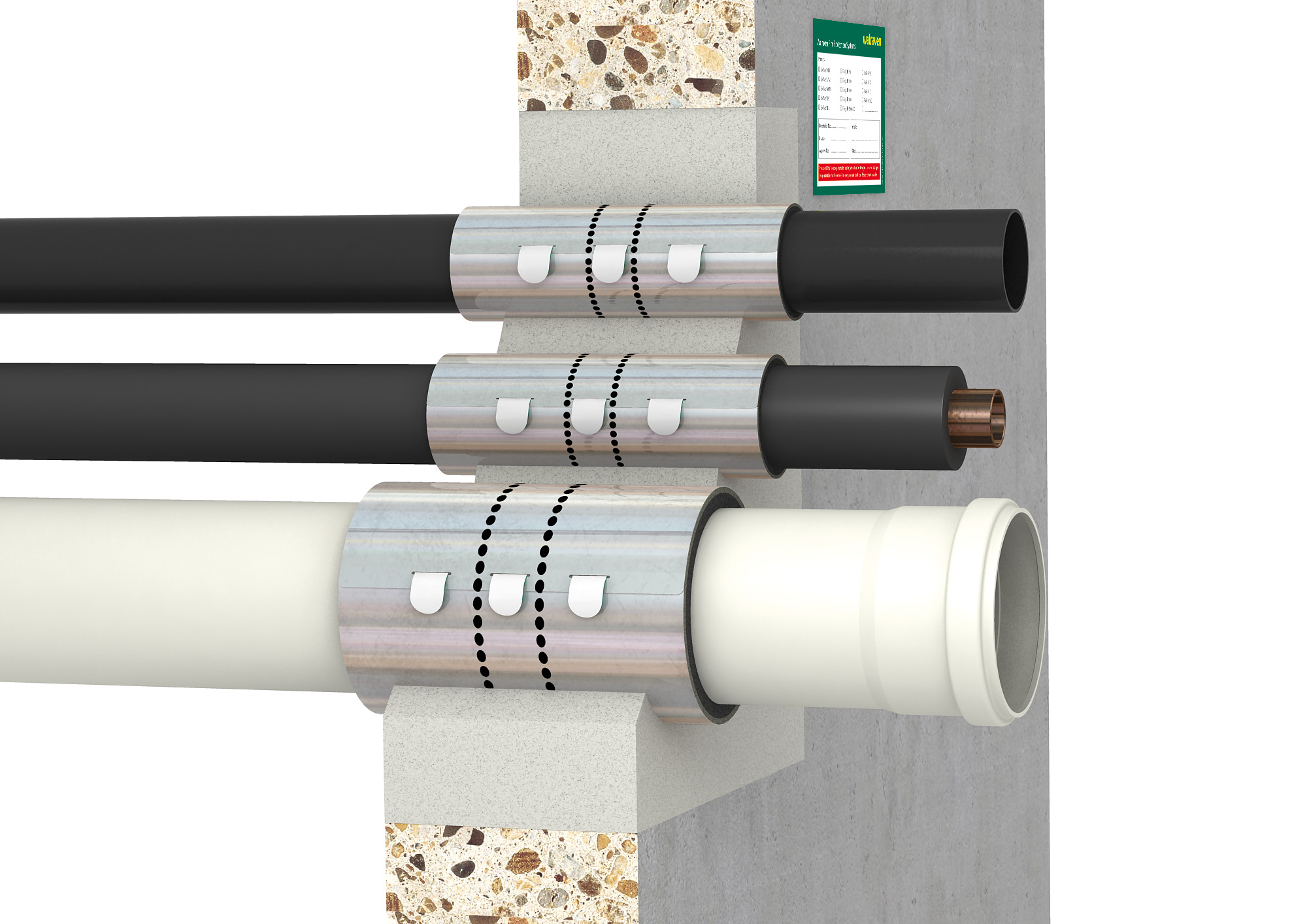 Easy to install fire stopping solution from Walraven