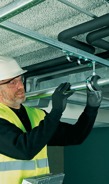 Save energy, time and effort with Walraven insulating pipe support