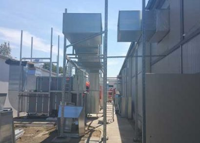 Installation of rooftop duct supports
