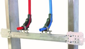 Rapid Sliding Wall Bracket with double PEX stub-outs