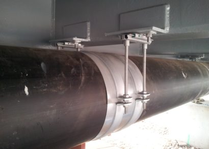 Heavy duty pipe supports – a versatile solution for complex bridge installation